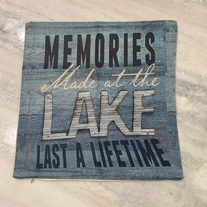 """Memories Made at the Lake   Throw Pillow Cover 17"""""""